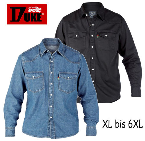 DUKE Jeanshemd Denim XL bis 6XL